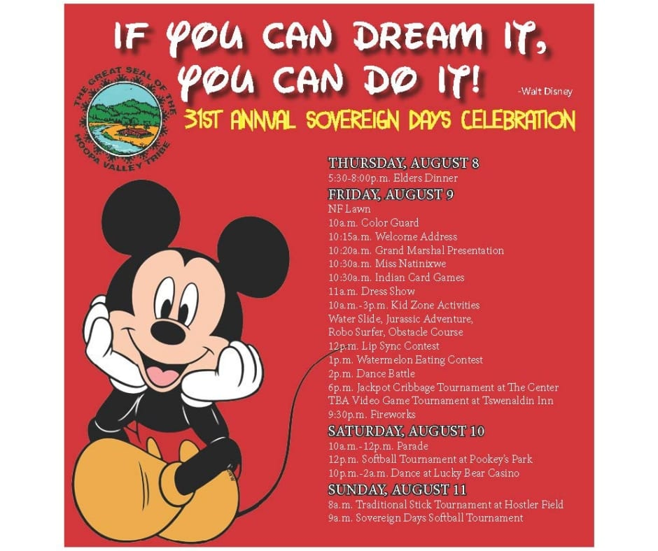 31st Annual Sovereign Days Flyer